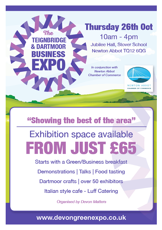 Teignbridge and Dartmoor Business Expo exhibitors rate card and booking form